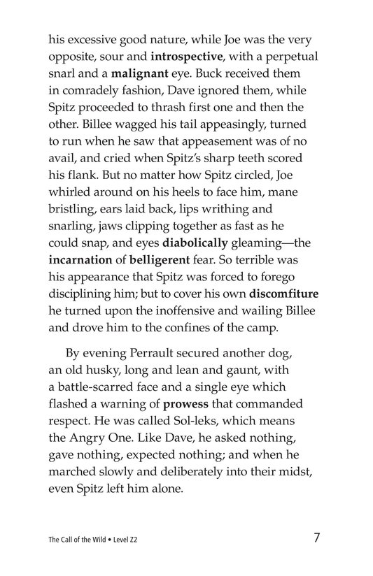 Book Preview For The Call of the Wild (Part 2) Page 7