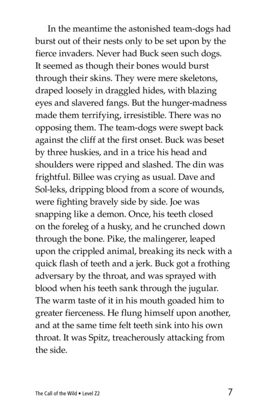 Book Preview For The Call of the Wild (Part 3) Page 7