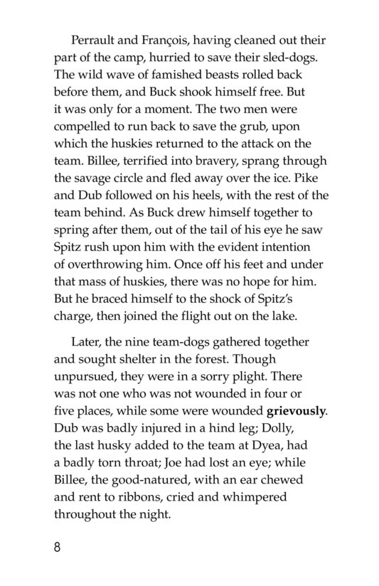 Book Preview For The Call of the Wild (Part 3) Page 8