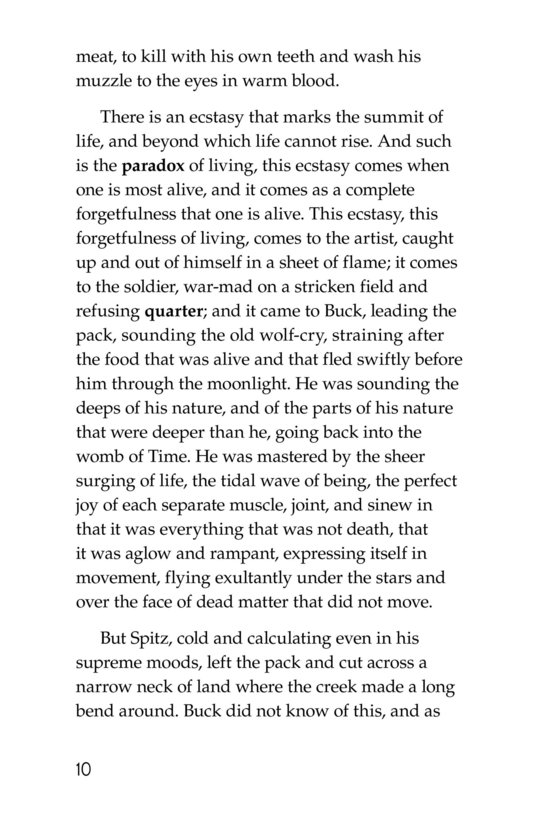 Book Preview For The Call of the Wild (Part 4) Page 10