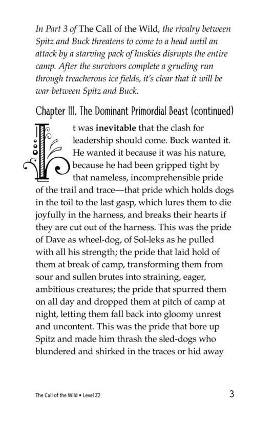 Book Preview For The Call of the Wild (Part 4) Page 3