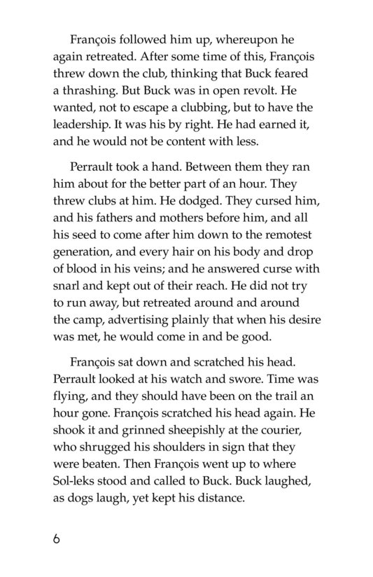 Book Preview For The Call of the Wild (Part 5) Page 6