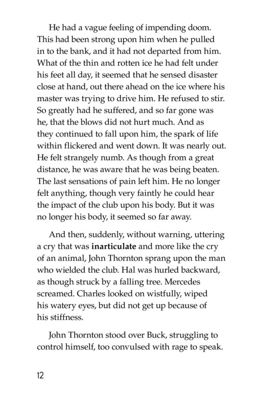 Book Preview For The Call of the Wild (Part 7) Page 12