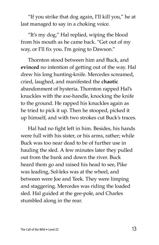 Book Preview For The Call of the Wild (Part 7) Page 13
