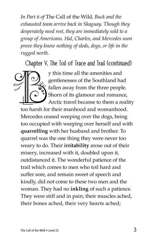 Book Preview For The Call of the Wild (Part 7) Page 3
