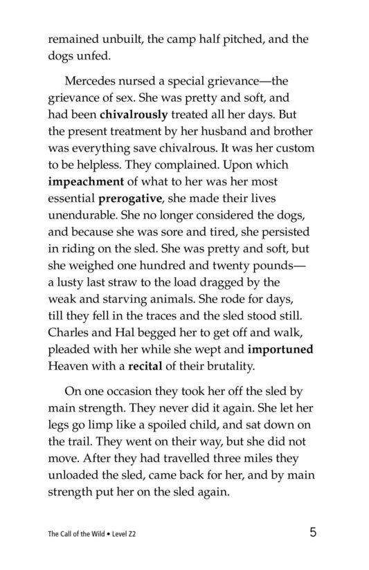 Book Preview For The Call of the Wild (Part 7) Page 5