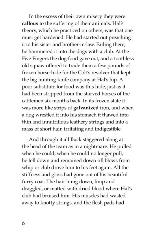 Book Preview For The Call of the Wild (Part 7) Page 6