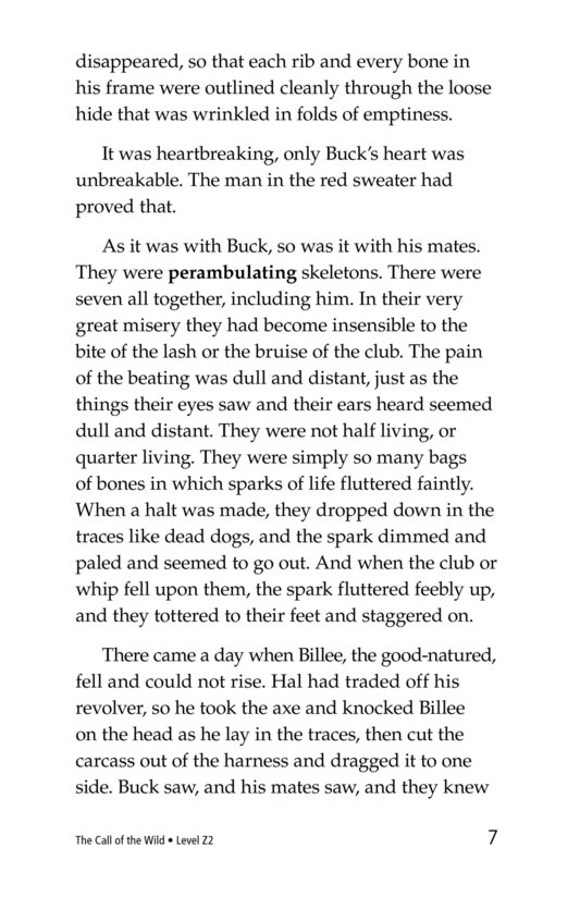 Book Preview For The Call of the Wild (Part 7) Page 7