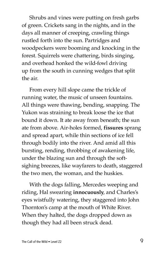 Book Preview For The Call of the Wild (Part 7) Page 9