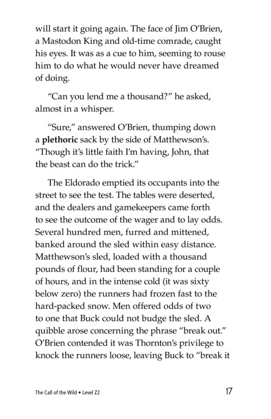 Book Preview For The Call of the Wild (Part 8) Page 17