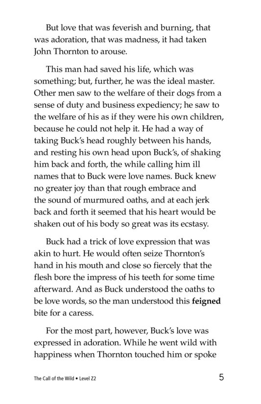 Book Preview For The Call of the Wild (Part 8) Page 5