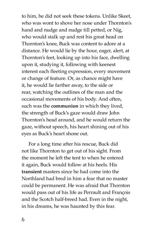 Book Preview For The Call of the Wild (Part 8) Page 6