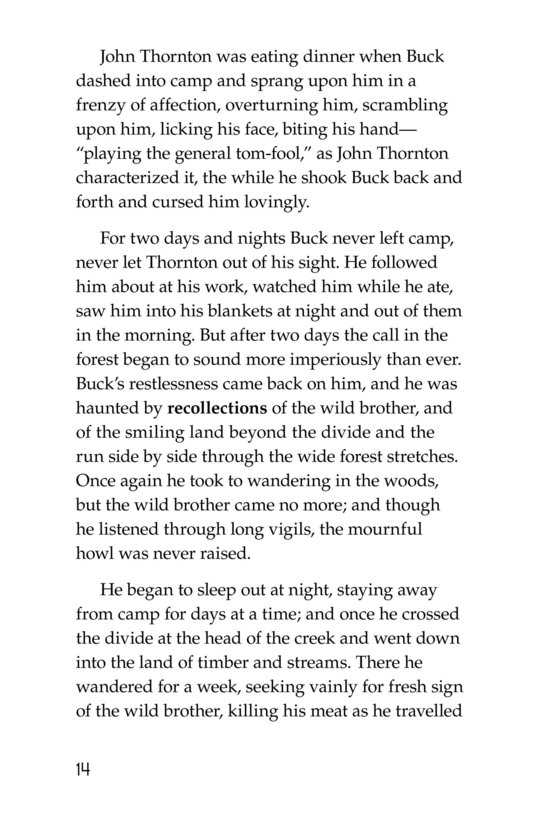 Book Preview For The Call of the Wild (Part 9) Page 14