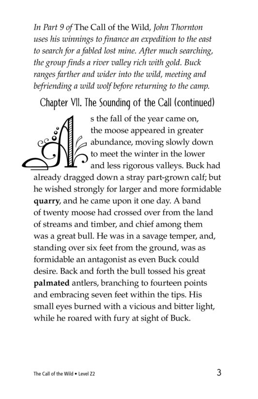 Book Preview For The Call of the Wild (Part 10) Page 3
