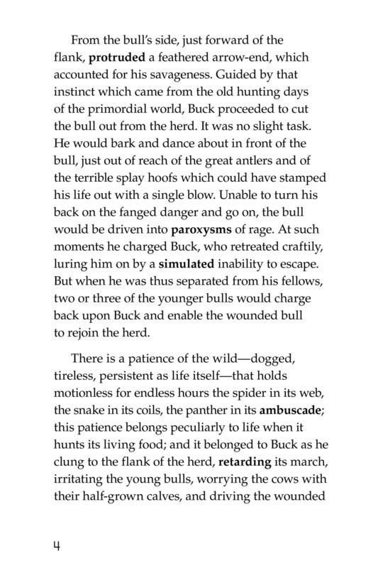 Book Preview For The Call of the Wild (Part 10) Page 4