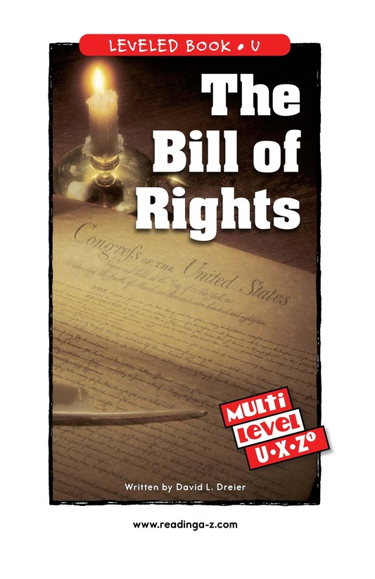 Book Preview For The Bill of Rights Page 0