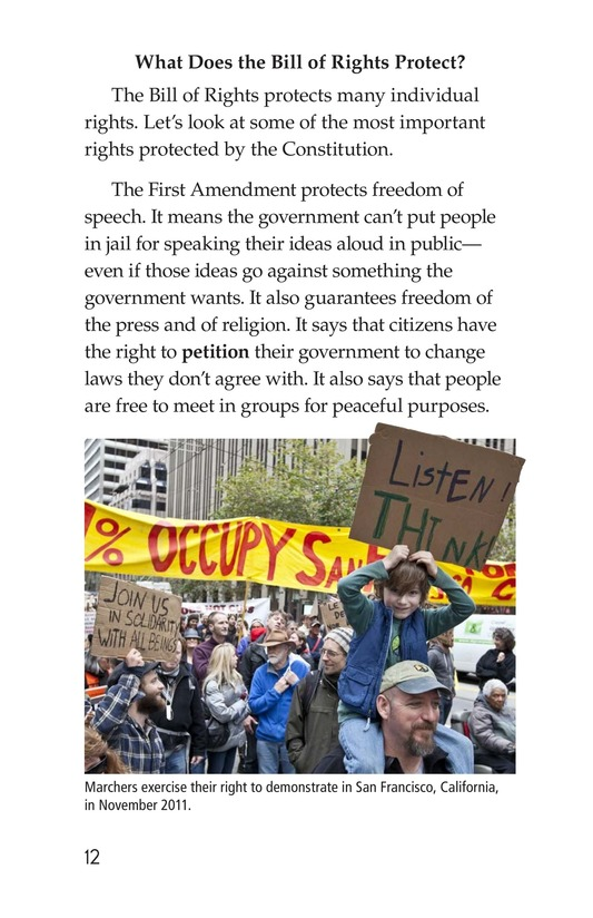 Book Preview For The Bill of Rights Page 12