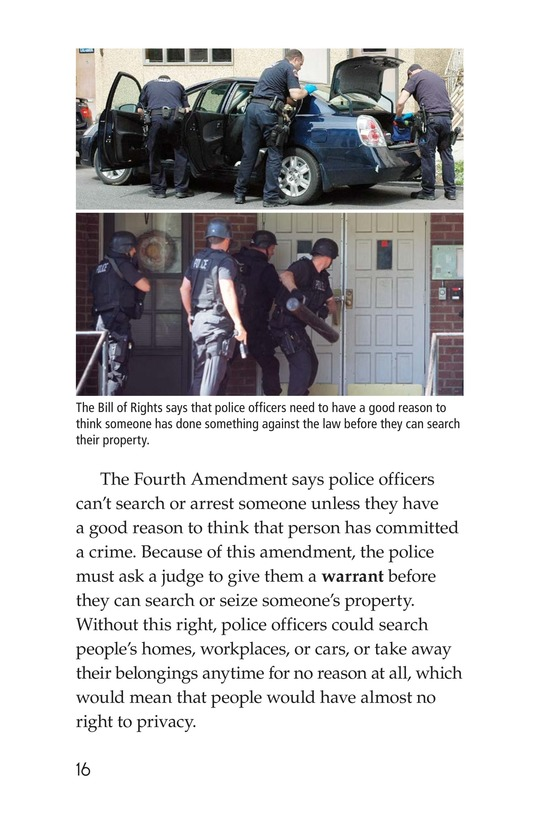 Book Preview For The Bill of Rights Page 16