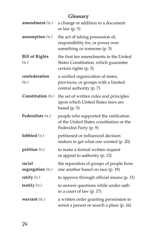 Book Preview For The Bill of Rights Page 24