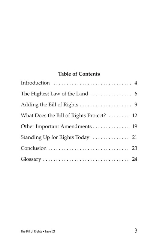Book Preview For The Bill of Rights Page 3