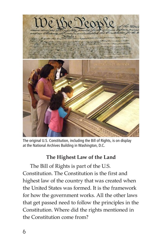 Book Preview For The Bill of Rights Page 6