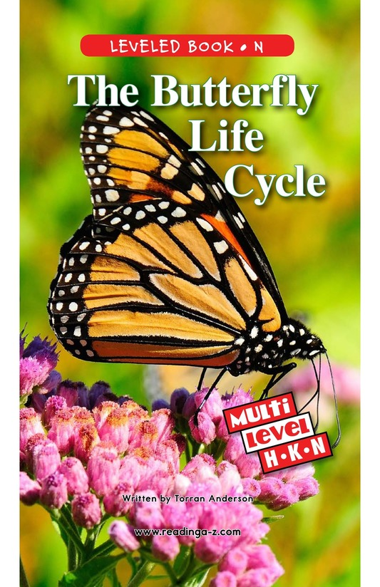 Book Preview For The Butterfly Life Cycle Page 0