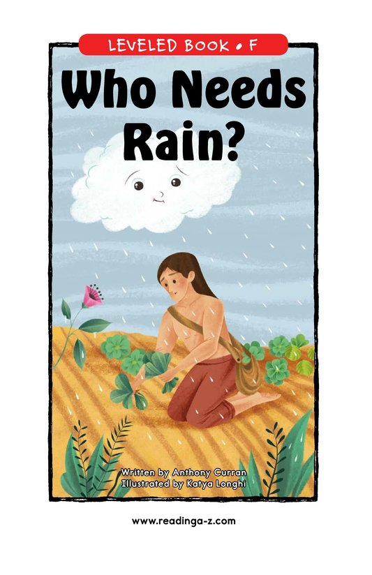 Book Preview For Who Needs Rain? Page 0