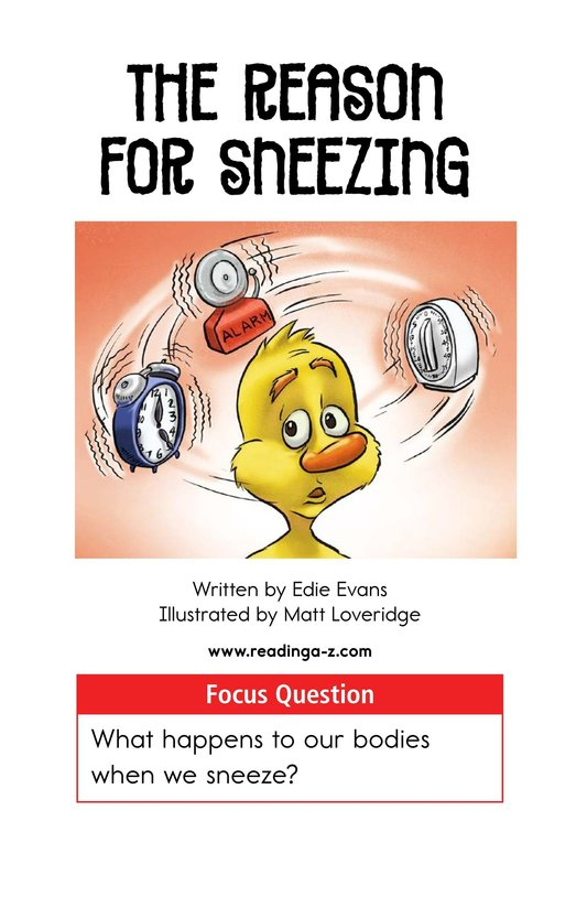 Book Preview For The Reason for Sneezing Page 1