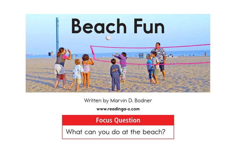 Book Preview For Beach Fun Page 1