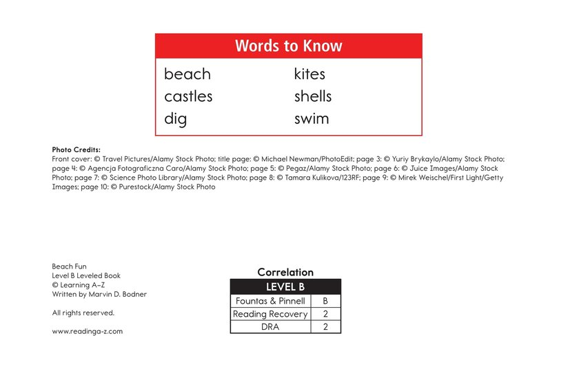 Book Preview For Beach Fun Page 2