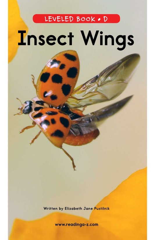 Book Preview For Insect Wings Page 0