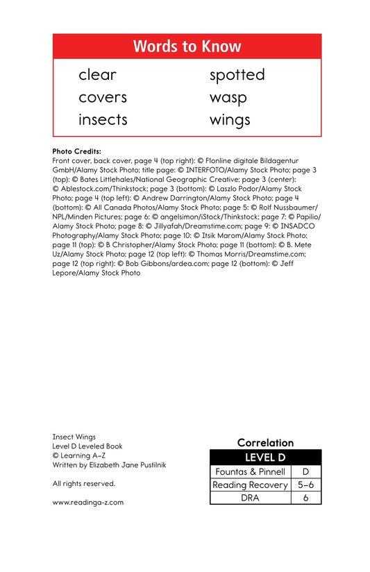 Book Preview For Insect Wings Page 2