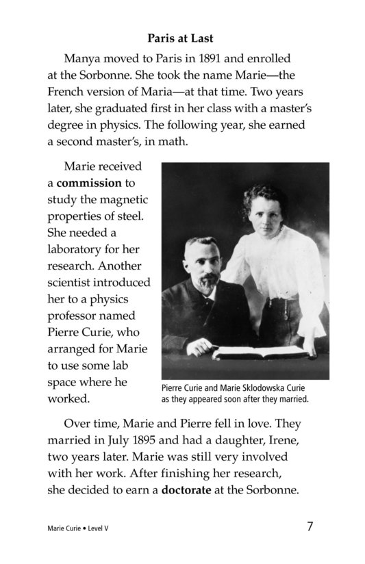 Book Preview For Marie Curie Page 7