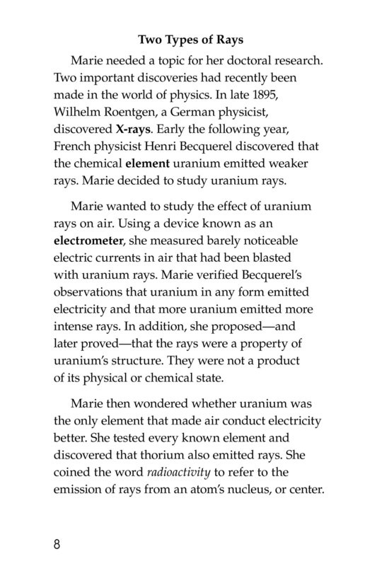 Book Preview For Marie Curie Page 8