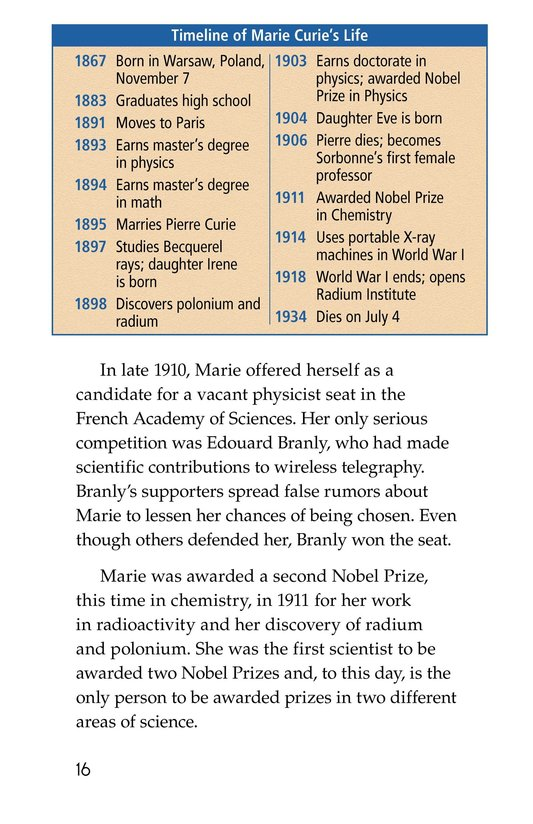 Book Preview For Marie Curie Page 16