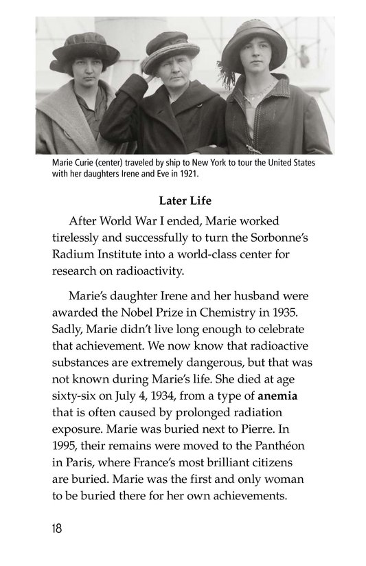Book Preview For Marie Curie Page 18