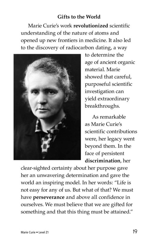 Book Preview For Marie Curie Page 19