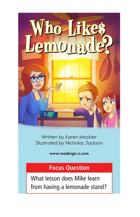 Book Preview For Book 2: Who Likes Lemonade? Page 1