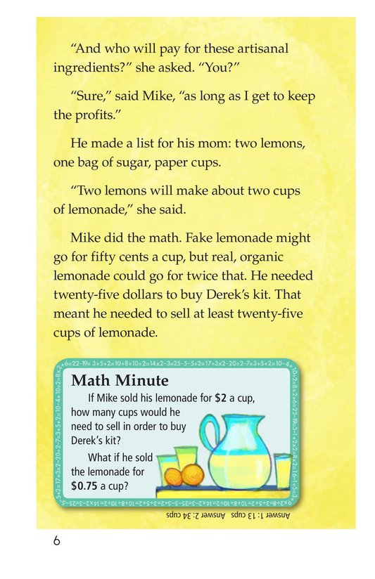 Book Preview For Book 2: Who Likes Lemonade? Page 6