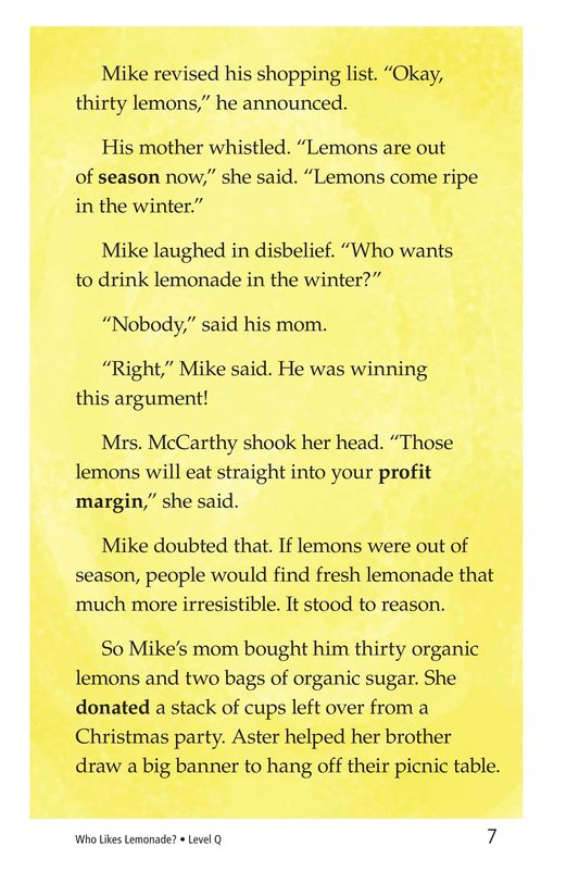 Book Preview For Book 2: Who Likes Lemonade? Page 7