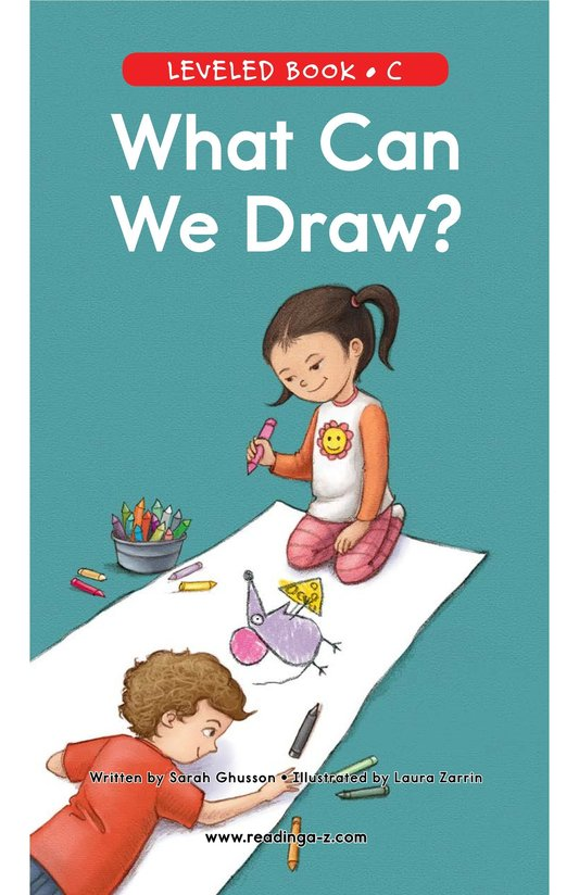 Book Preview For What Can We Draw? Page 0