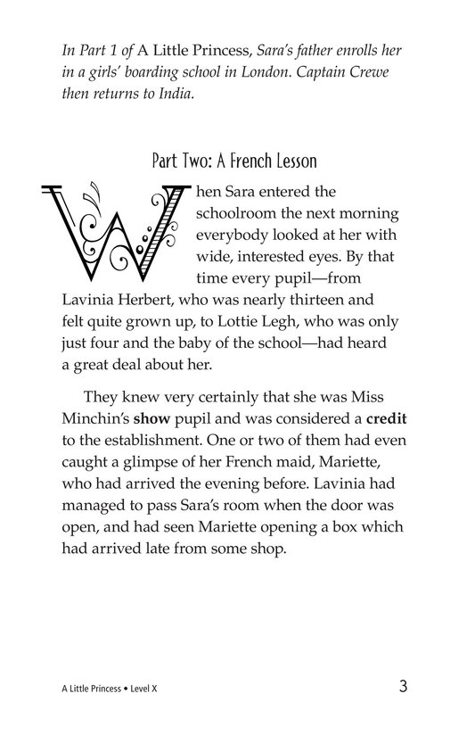 Book Preview For A Little Princess (Part 2) Page 3
