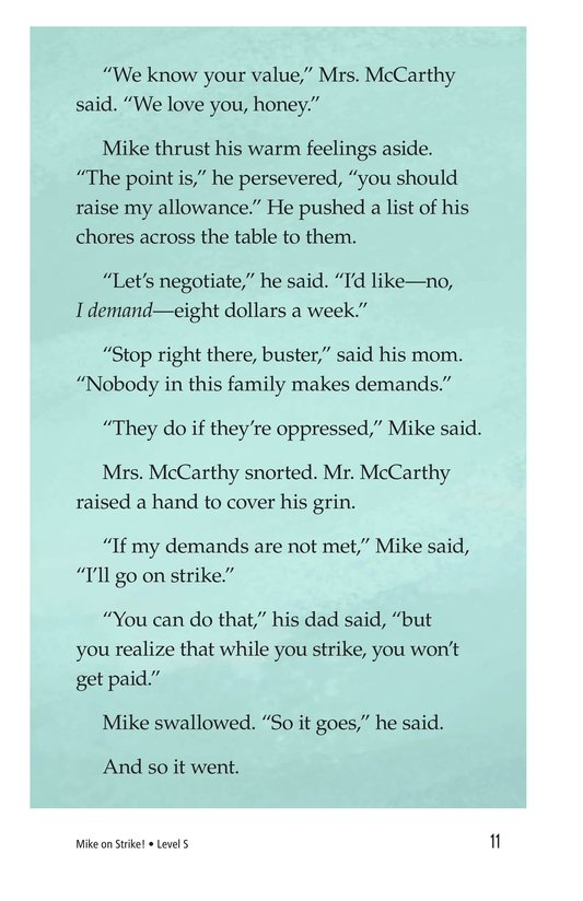 Book Preview For Book 6: Mike on Strike! Page 11