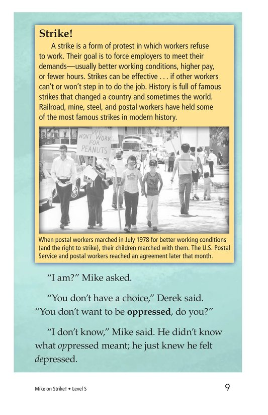 Book Preview For Book 6: Mike on Strike! Page 9