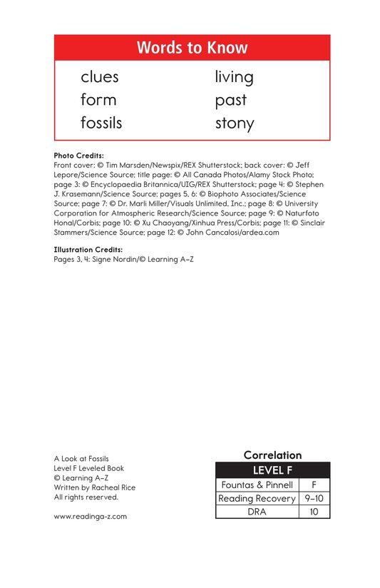 Book Preview For A Look at Fossils Page 2
