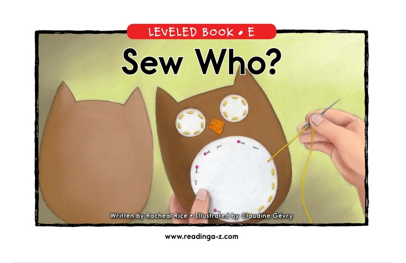 Book Preview For Sew Who? Page 0