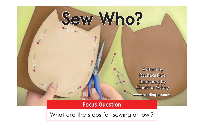Book Preview For Sew Who? Page 1