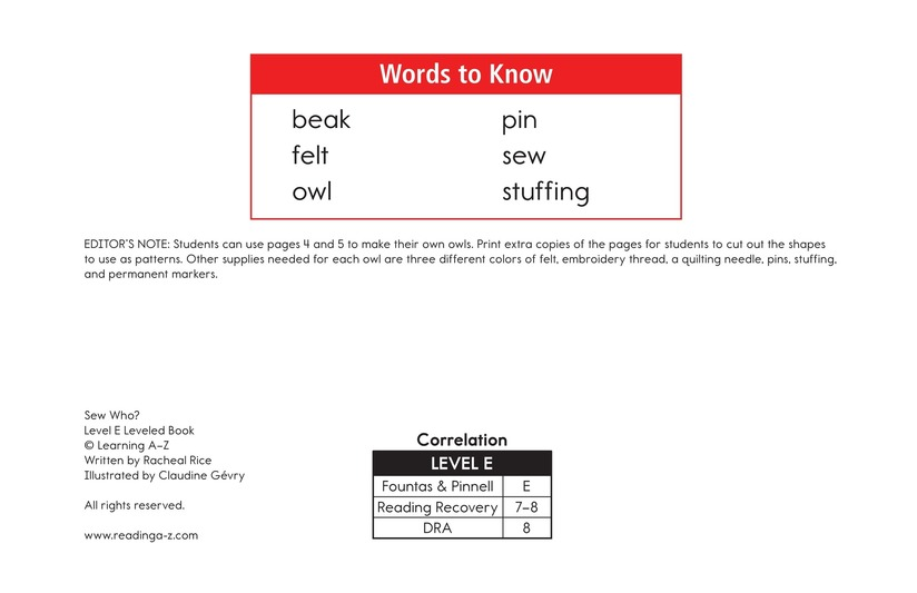 Book Preview For Sew Who? Page 2