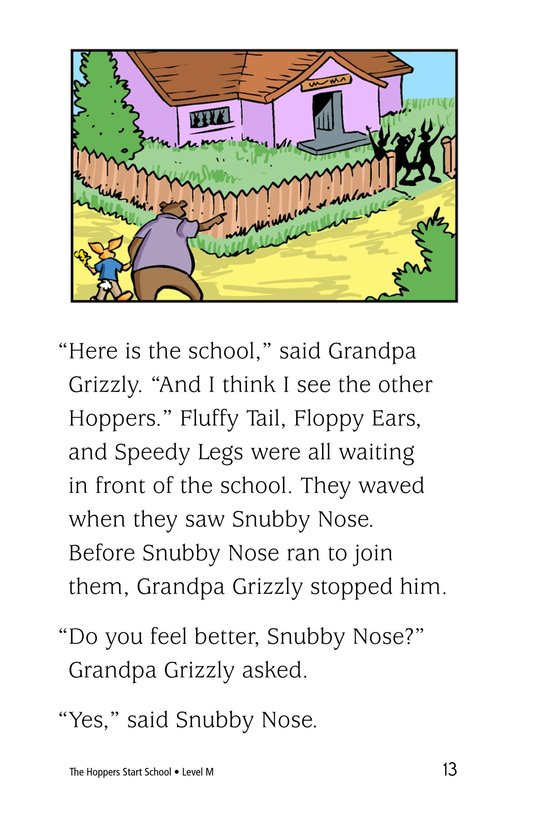 Book Preview For The Hoppers Start School Page 13