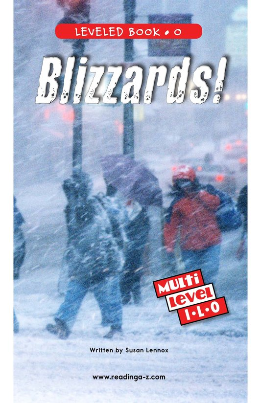 Book Preview For Blizzards! Page 0